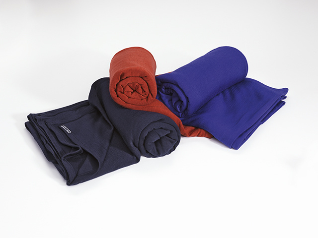 Merino Wool Silk Travel Blanket