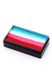 PXP Onestroke Block rood roze wit turquoise