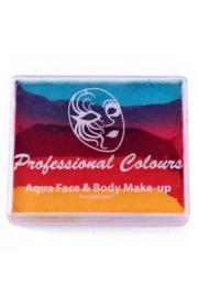 PXP aqua splitcake turquoise|roze|rood|oranje|geel
