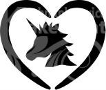 Unicorn in hart