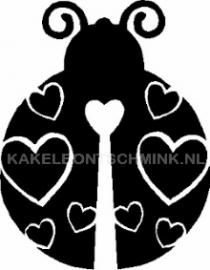 Lieveheersbeestje met hartjes