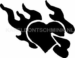 Hart vlammen