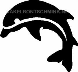 Dolfijn springend links