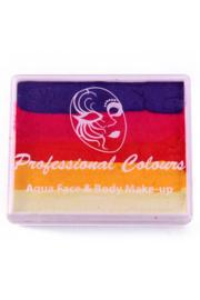 PXP Aqua splitcake paars|koraal roze|goud oranje|geel|wit