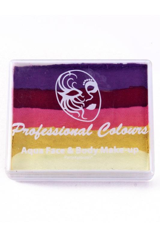 PXP Aqua  splitcake violet rood roze metallic geel wit