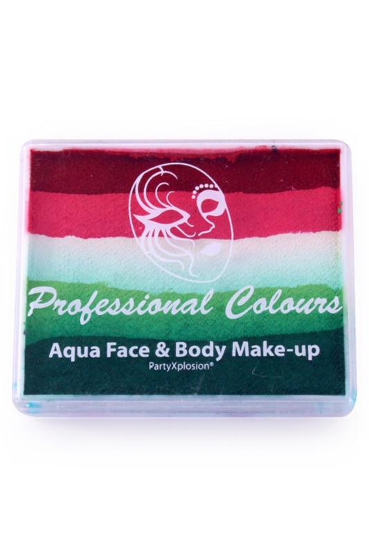 PXP Aqua  splitcake l.rood koraal roze wit l.groen groen