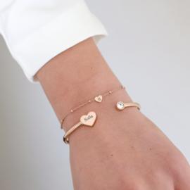Heart bangle | rosé