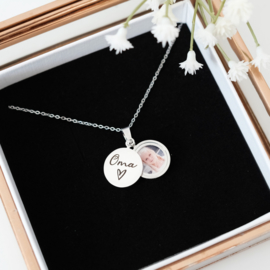 Cadeau voor oma | Foto medaillon ketting