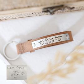 Sleutelhanger handschrift graveren