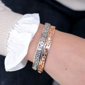 Letter | Changeable armband | Zilver