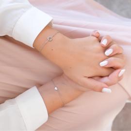 Hartjes armbanden set | Goud