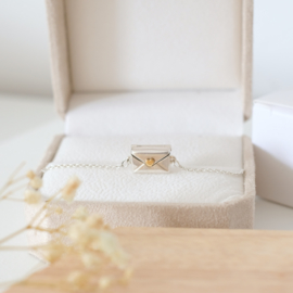 Love letter armband | zilver goud hart