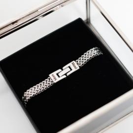 Heren armband zilver schakelarmband