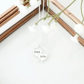 Naam ketting | twee namen | Zilver