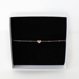Hartjes armband graveren | Rosé