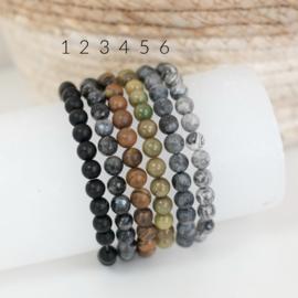 Initiaal armband heren | Graveren | Zwart