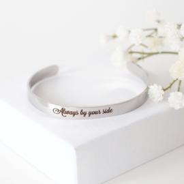 Armband met tekst graveren | Zilver
