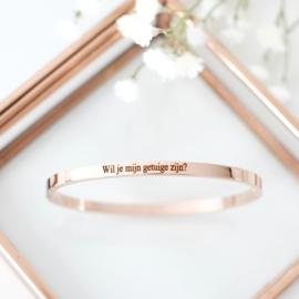 Getuige cadeau | Armband graveren