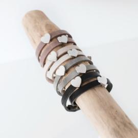 Leren wikkelarmband graveren | Meer kleuren