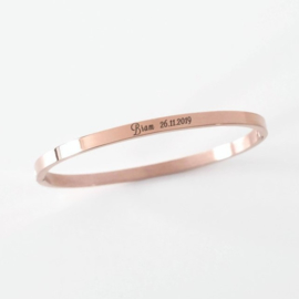 Bangle | Slavenarmband graveren | Rosé