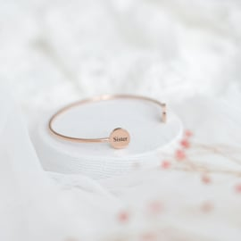 Cuff bangle graveren met naam | Rosé