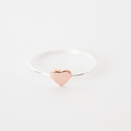 Sweetheart ring | zilver rosé