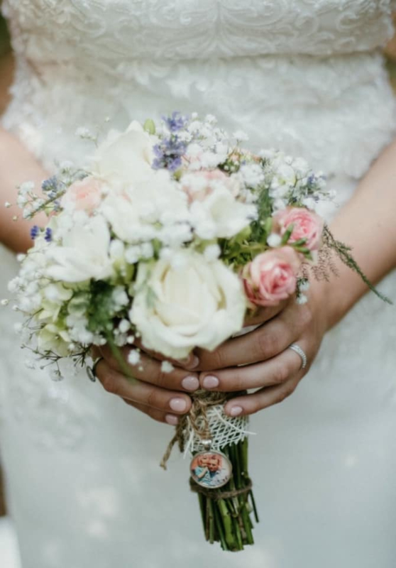 Bruidsboeket fotobedel | Zilver