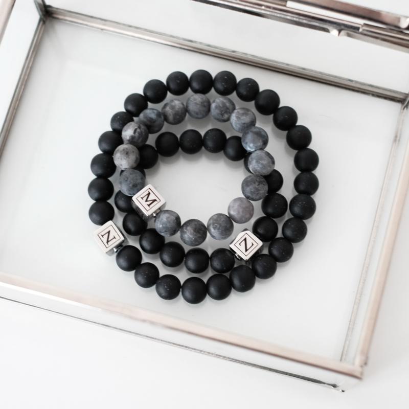 Vaderdag cadeau   Vader zoon armbanden set