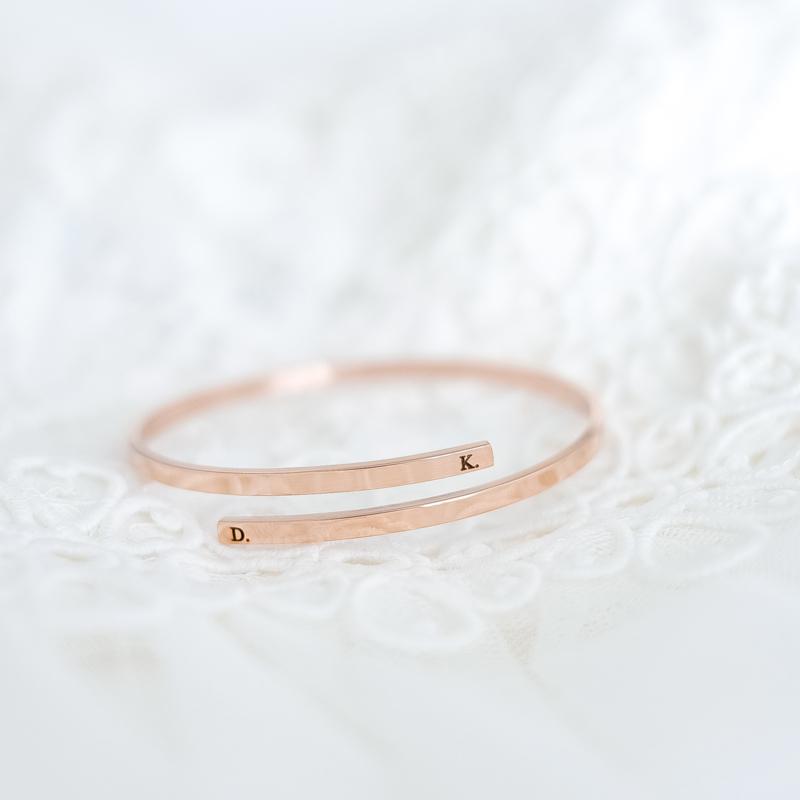 Rosé armband graveren