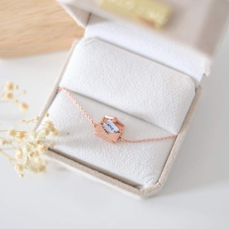 Love letter armband | rosé