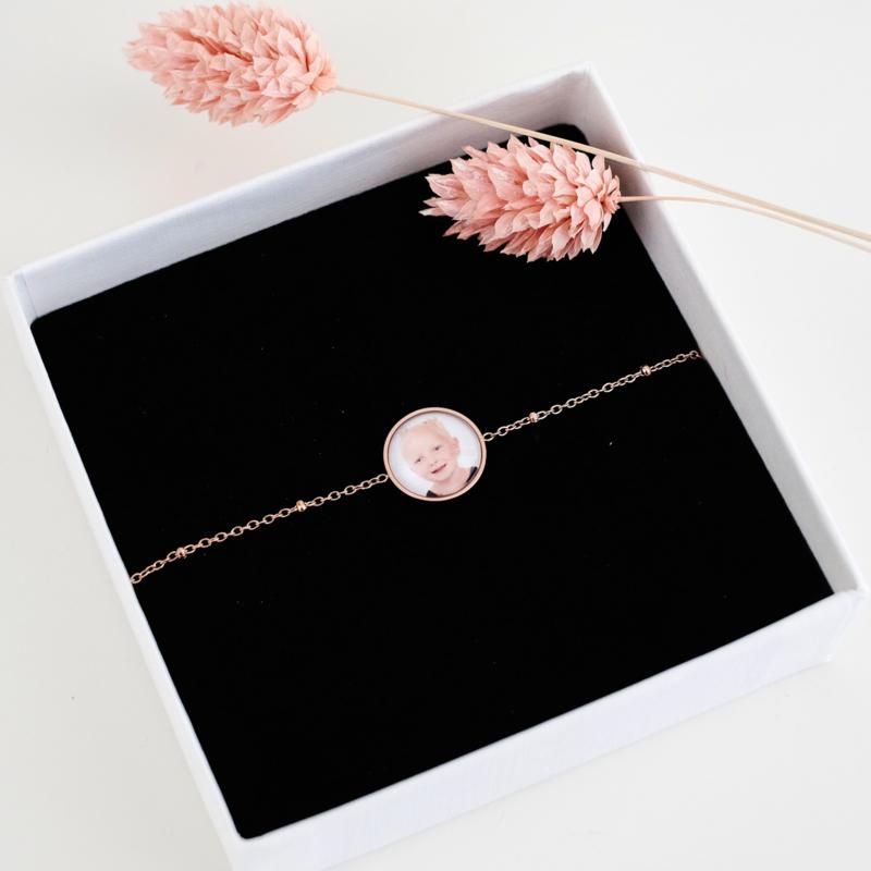 Foto armband | Rosé goud
