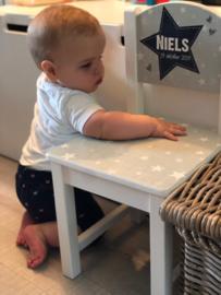 Geboortetoeltje Niels van geboortekaartje