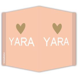 Geboortebord Hartje - Verschillende kleurcombinaties mogelijk!
