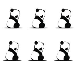 Muursticker kinderkamer Panda's