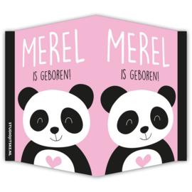 Geboortebord raam Panda **Kies je kleur**