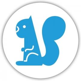 Sluitzegel apart geboortekaartje dieren - Eekhoorn