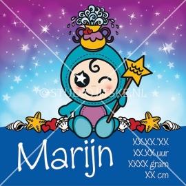 Geboortecanvas sterrenbeeld, Waterman jongen: 20 jan. - 19 febr.