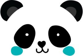 Muursticker kinderkamer Panda **Kies je kleur!**