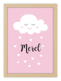 Kinderkamerposter met naam - CUTE CLOUD