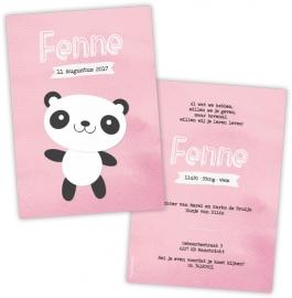 Geboortekaartje panda - Meisje