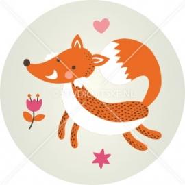 Sluitzegel geboortekaartje vosje - meisje