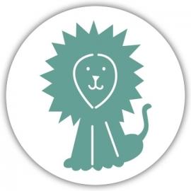 Sluitzegel apart geboortekaartje dieren - Leeuw