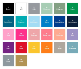 Houten geboortedoos Vlaggenslinger *Kies je kleur!*