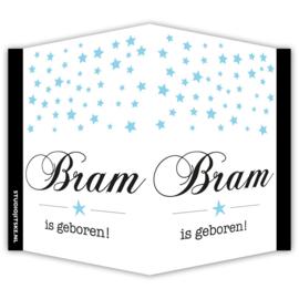 Geboortebord naam en sterren