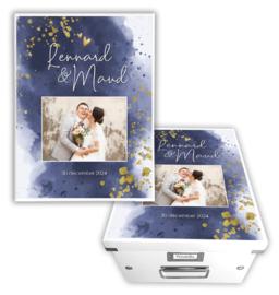 Herinneringsdoos huwelijk met foto *Kies je kleur*