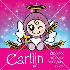 Geboortecanvas sterrenbeeld, Maagd meisje: 24 aug. - 23 sept.