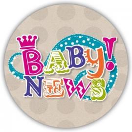Sluitzegel Vrolijk geboortekaartje letters - Meisje