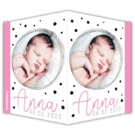 Geboortebord met foto van je kindje