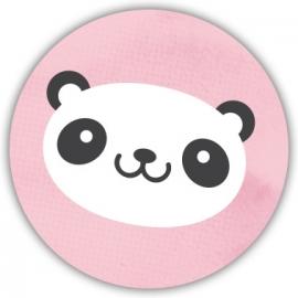 Sluitzegel Geboortekaart panda - Meisje