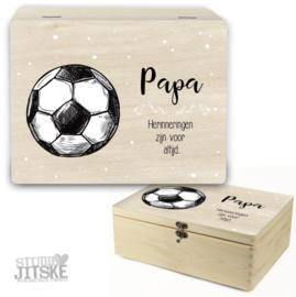 Houten herinneringsdoos Voetbal